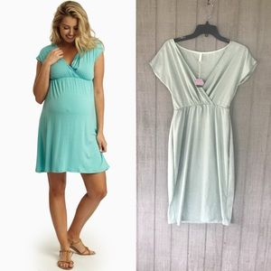 Mint Green Maternity/Nursing Dress